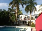 Enjoy a home in the heart of Cozumel, just three blocks from the downtown plaza.  See Pink Suite too