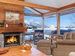 Golf Creek 35 - Living Room with View of the Tetons