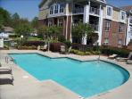 This unit is poolside and pool has a view of the lake too!