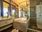 Stunning and spacious ensuite bathrooms through this dream villa