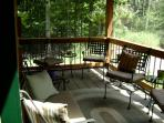 Screened porch is 8x32 (east view)
