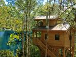 Lakeside treehouses, sleep up to 6.
