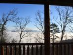 Back porch view - Pigeon Forge below clouds
