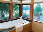 Tub with lake view