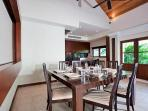 Dining area with seats for up to 8 guests