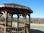 Gazebo on property