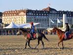 The beach, Deauville.