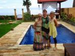 one of our guest from ausy who stay in villa gillis for 3 weeks