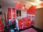 Bedroom 3 featuring Marimekko decor.