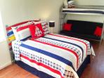 Full bedroom with futon/twin bunk