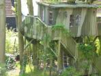 • The tree house has a 2KW e-heating, sofa, stereo and crafttables.