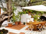 The Most Amazing Courtyard for the Best Memorable Dinners Amongst Plants and Flowers!