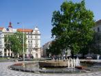 Namesti Kinskych (Kinskych square), 2 minutes from Ujezd 5