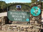 *6 mins buffalo bills grave and museum and gift shop  on top of -Look- Out- Mountain*