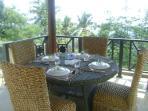 Dining on the viewing Gazebo at Bali Villa Sartori (North Bali), living in the view