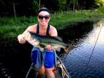 Wet a line in the catch and release pond...biggo bass!