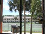 Tennis court view from the bedroom