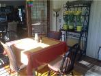 Dining on screened porch
