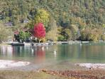 Autumnal moment at Plage D'Angon