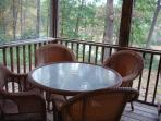 Dine on screened porch