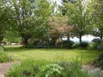 Beautiful gardens to explore around the home.