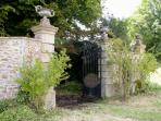 the gates to private 6 acre garden