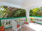 View of the Balcony- Private & Tranquil Tropical Paradise. You can see the sea from here