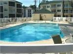 Condo over looks one of six pools.  Feel free to enjoy all of them. Be sure take your pool bands.