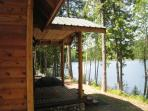 Cabin is right in the lake