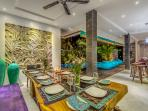 Dining Area - seats 8 to 10 people.  Overlooking the pool.