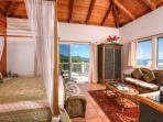 Andante's Master Bedroom with Sunrise and Southerly Ocean Views