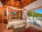 Andante's Master Bedroom with Private deck for Incredible Sunrise Views
