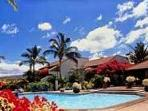 swimming pool and club house- has jacuzzi, second pool in upper area, also tennis courts