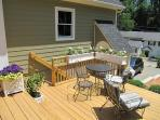 Deck and Cottage