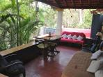 Outdoor Covered Patio seating