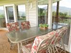 Dining area on main deck overlooking Great Smoky Mountains National Park.