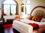 Mexican Bed and Breakfast Near Tulum - Handcrafted textiles from Oaxaca and Chiapas, King Bed, AC