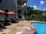 The pool and deck