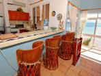 Breakfast Bar and kitchen at La Sirena 14, Akumal