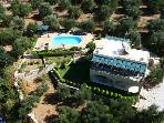 The aerial view of Villa Nynemia