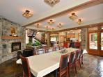 Spacious dining area for your group