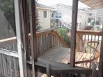 sundeck from screened porch