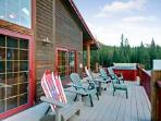 Your private deck in the mountains!