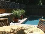 Tak patio table and pool