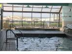 Hot tubs and inside pool