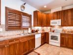Full kitchen with everything you would need for vacation.