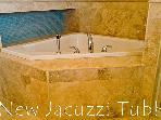 Third Floor Jacuzzi and Travertine Bath