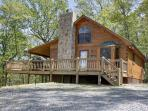 HIS PLACE-2BR/3BA- CABIN SLEEPS 6, PRIVATE, MOUNTAIN VIEW, WIFI, POOL TABLE, AIR HOCKEY, AND A HOT TUB! ONLY $150 PER NIGHT!