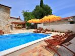 Holiday villa with pool for rent, Barban, Istria