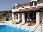 Villa rustica with pool, Trogir area